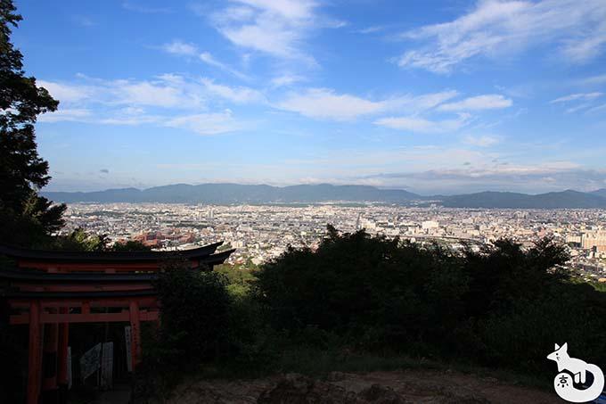 伏見稲荷大社 稲荷山からの風景