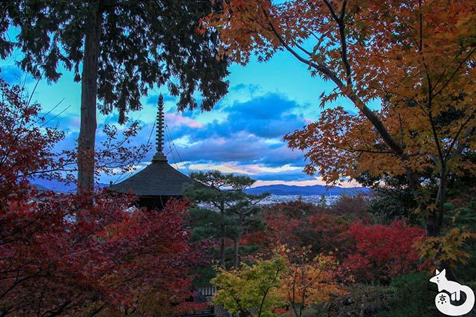 常寂光寺 展望台からの風景