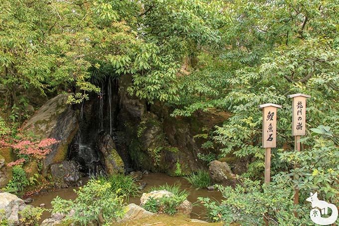 金閣寺 龍門滝