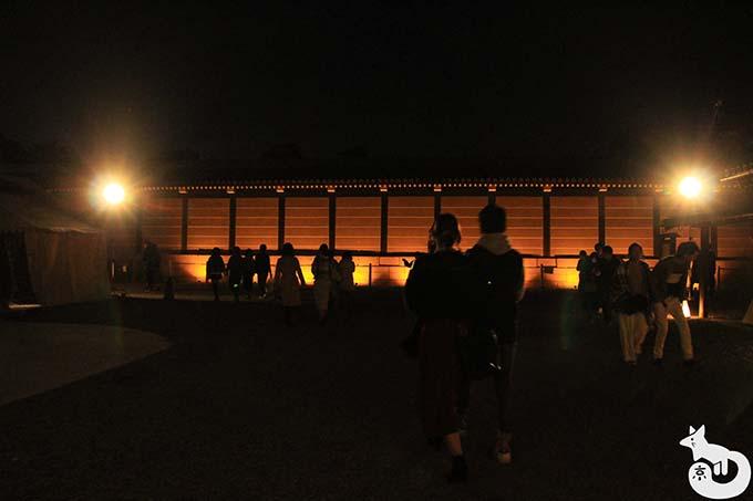 二条城 秋のライトアップ|番所周辺