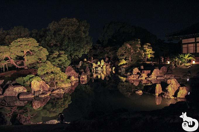 二条城 秋のライトアップ|二の丸庭園
