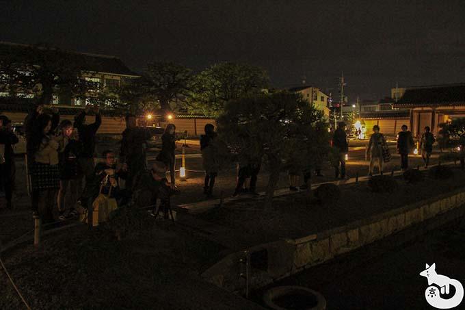 東寺 秋のライトアップ|五重塔の撮影場所の混雑状況