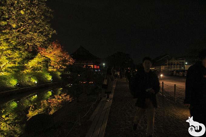 東寺 秋のライトアップ|受付付近の通路の様子