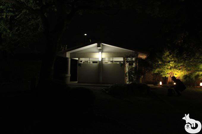 東寺 秋のライトアップ|お手洗い