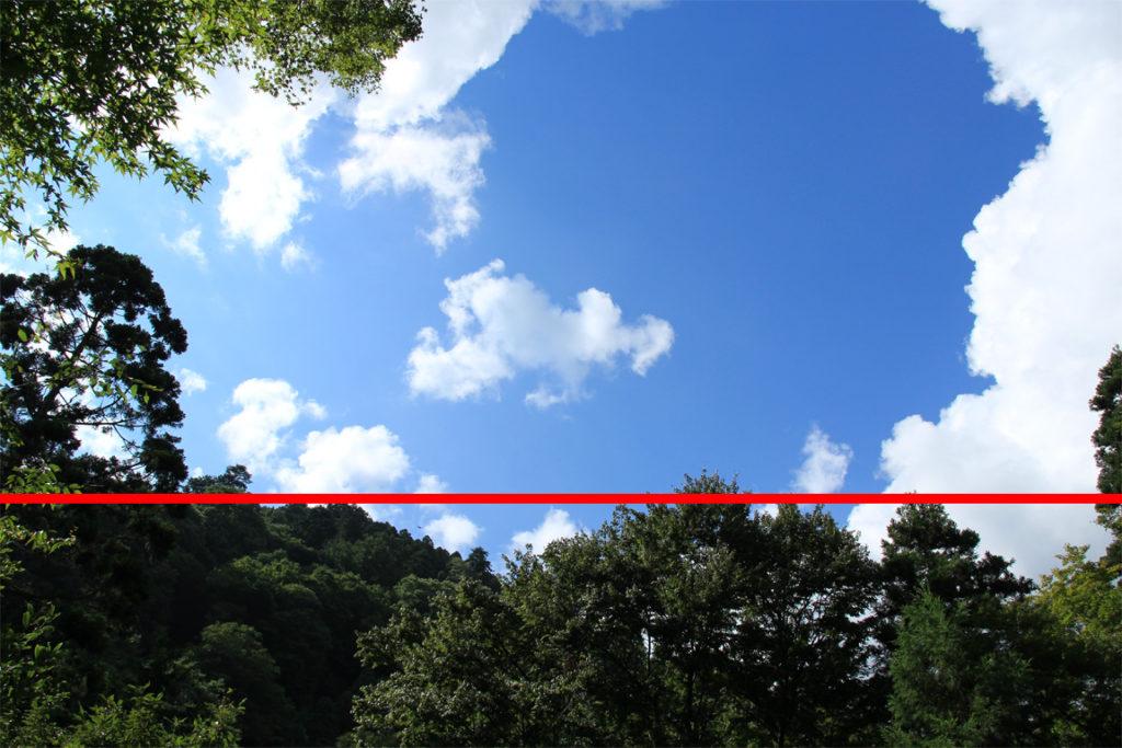 三分割構図分割(風景写真)