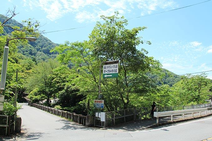 八瀬駅前バス停の様子