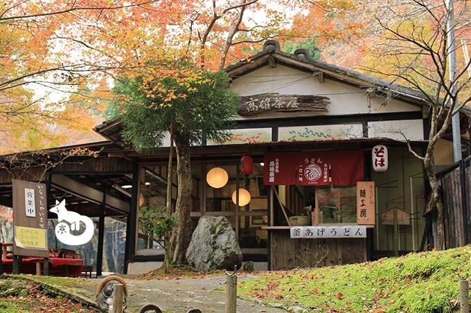 参道にある茶屋