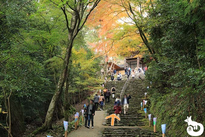 神護寺の山門に到着