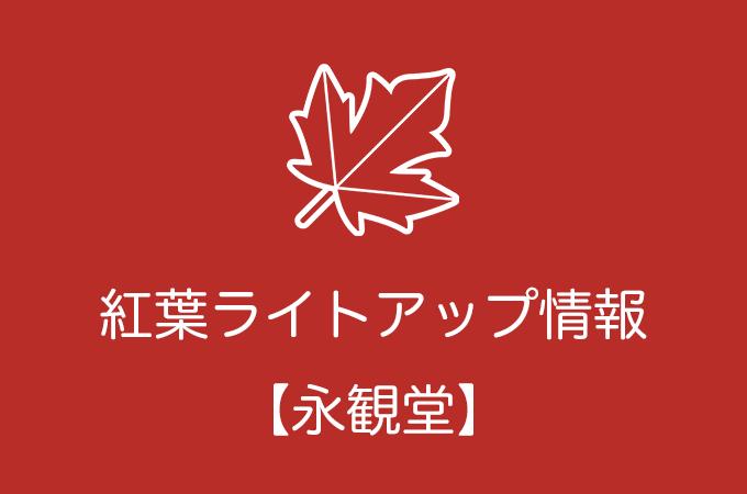 永観堂の紅葉ライトアップ情報|2019年の開催日程