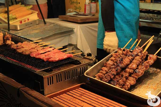牛肉の串焼き