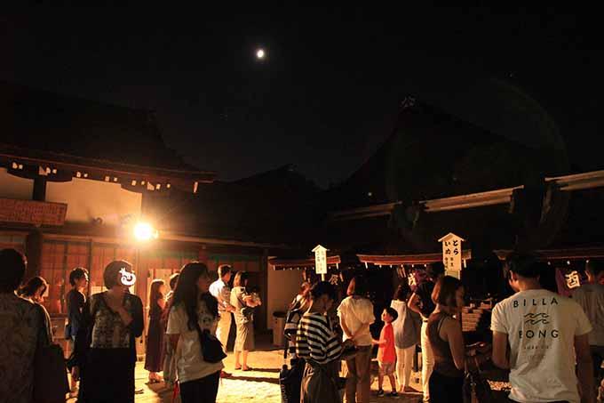 下鴨神社 言社のライトアップ