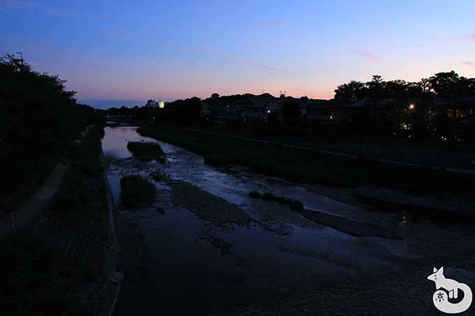 下鴨神社付近の夕焼け