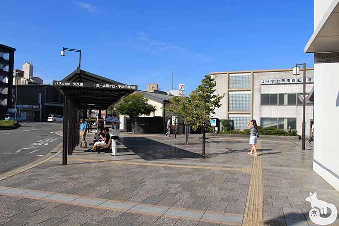 京阪バス停