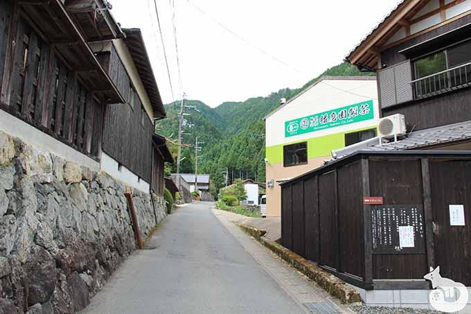 正寿院の前の道