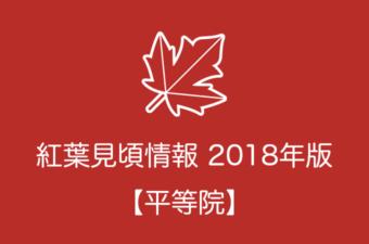 平等院の紅葉情報2018|色づき始めの時期や見頃情報