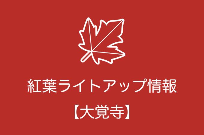 旧嵯峨御所 大本山 大覚寺の紅葉ライトアップ情報|2018年の開催日程