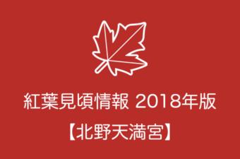 北野天満宮の紅葉情報2018|色づき始めの時期や見頃情報