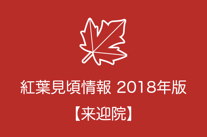 来迎院の紅葉情報2018|色づき始めの時期や見頃情報