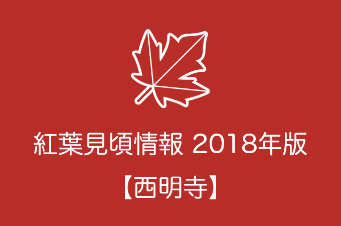西明寺の紅葉情報2018|色づき始めの時期や見頃情報