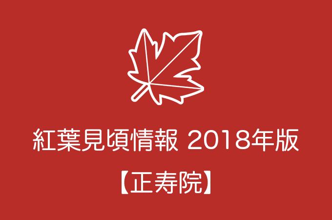 正寿院の紅葉情報2018|色づき始めの時期や見頃情報