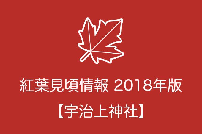 宇治上神社の紅葉情報2018|色づき始めの時期や見頃情報
