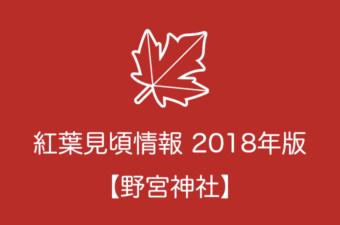 野宮神社の紅葉情報2018|色づき始めの時期や見頃情報