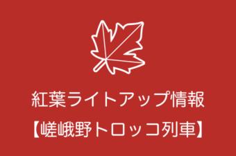 嵯峨野トロッコ列車の紅葉ライトアップ情報